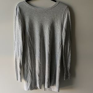 Cotton sweater with crossover back
